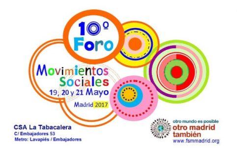 10º Foro de Movimientos Sociales de Madrid @ CSA La Tabacalera | Madrid | Comunidad de Madrid | España