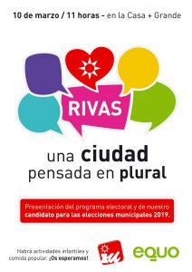 Presentación del programa y candidato de Rivas-Vaciamadrid @ la casa + grande