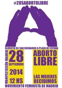 Manifestación Aborot 28 sept 2014