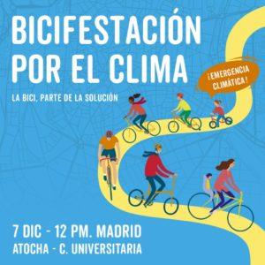 Bicifestación por el clima @ De Atocha de Ciudad Universitaria