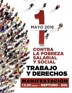 Cartel Primero de Mayo de 2016