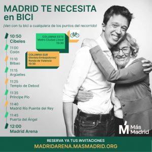 Bicicaravana hacia el Acto Central de Campaña en el Madrid Arena @ De Cibeles al Madrid Arena