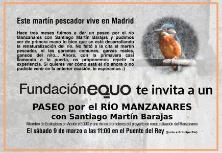 Paseo por el Manzanares con Santiago Martín Barajas @ Puente del Rey
