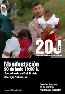 -20 Lunes Cartel Manifestacion refugiados