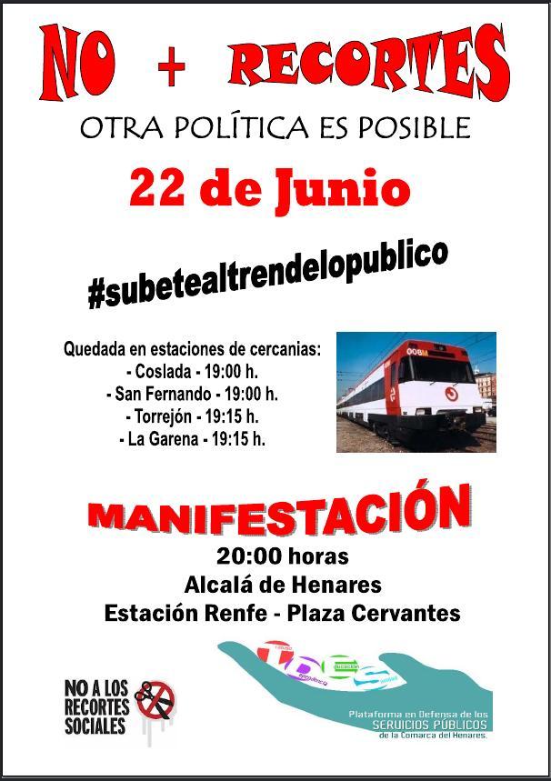 """2012-06-22-Cartel Manifestacion """"Subete al tren de lo público"""" 1"""