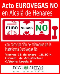 Acto Eurovegas NO en Alcalá de Henares-18-01-2013