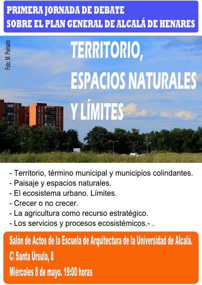 Primera jornada de debate sobre PG de Alcala-Territorio, espacios naturales y limites