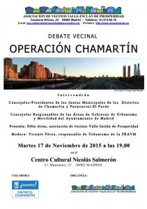 2015-11-17 Cartel Debate Vecinal Operación Chamartín