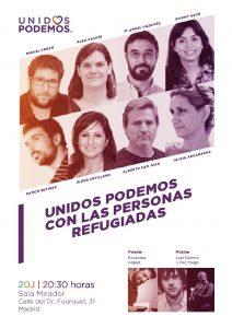 20J Unidos Podemos con las personas refugiadas