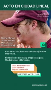 Encuentro con personas con discapacidad intelectual @ Plaza de Ciudad Lineal