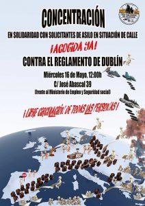 Concentración en solidaridad con solicitantes de asilo @ Frente al Ministerio de Empleo y Seguridad Social | Madrid | Comunidad de Madrid | España