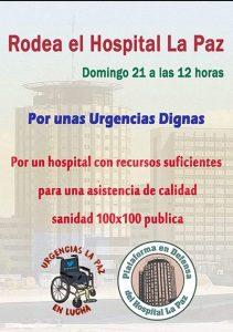 Concentración por unas Urgencias dignas en el Hospital de La Paz @ Hospital de La Paz | Madrid | Comunidad de Madrid | España