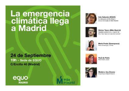 Jornada 'La emergencia climática llega a Madrid' @ Sede EQUO Madrid