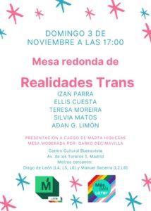 Acto campaña. Mesa redonda de 'Realidades trans' @ Centro Cultural Buenavista
