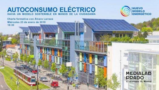 Formación sobre autoconsumo eléctrico @ Auditorio, MediaLab Prado | Madrid | Comunidad de Madrid | España