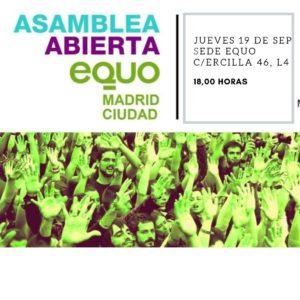 Asamblea Madrid Ciudad @ Sede EQUO Madrid