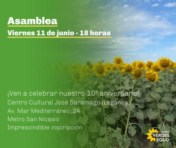 Asamblea Verdes Equo Madrid @ C. C. José Saramago
