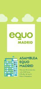 Asamblea EQUO Madrid-Cambalache navideño y Despedida fin de año @ Sede EQUO Madrid