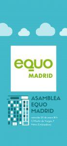 Asamblea EQUO Madrid @ Sede EQUO Madrid | Madrid | Comunidad de Madrid | España