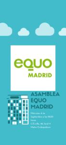 Asamblea EQUO Madrid @ Sede EQUO Madrid