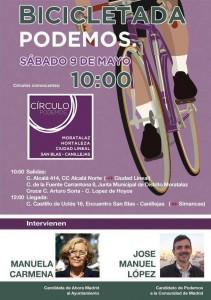 Bicicletada Podemos