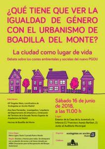 Boadilla del Monte: Debate ¿Qué tiene que ver la igualdad de género con el urbanismo? @ Exterior de la Casa de la juventud y la infancia | Boadilla del Monte | España