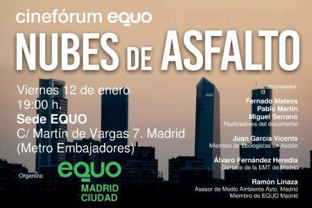 Cinefórum EQUO - Nubes de asfalto @ Sede EQUO | Madrid | Comunidad de Madrid | España