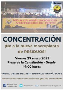 Concentración en Getafe por el cierre del vertedero de Pinto @ Plaza de la Constitución de Getafe
