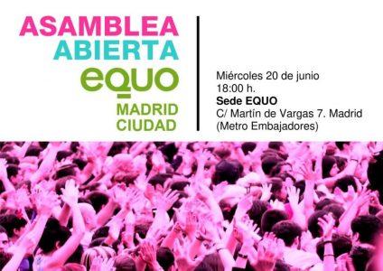 Asamblea EQUO Madrid Ciudad @ Sede EQUO | Madrid | Comunidad de Madrid | España
