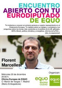 Encuentro abierto con tu eurodiputado de EQUO @ Oficina Europea de EQUO | Madrid | Comunidad de Madrid | España