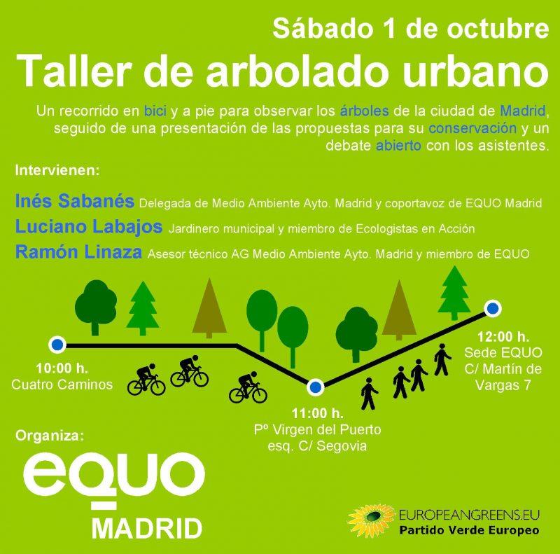 EQUO Madrid - Taller de arbolado urbano @ Cuatro Caminos - Embajadores | Madrid | Comunidad de Madrid | España