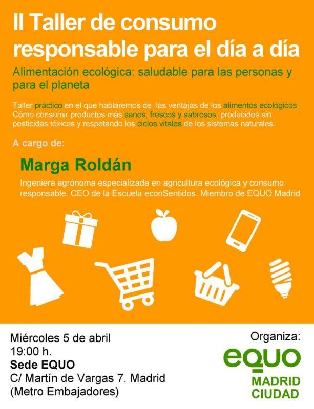 II Taller de consumo responsable para el día a día @ Sede EQUO | Madrid | Comunidad de Madrid | España
