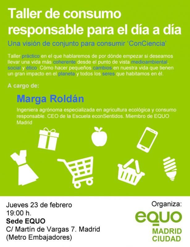 Taller de consumo responsable para el día a día @ Sede EQUO | Madrid | Comunidad de Madrid | España