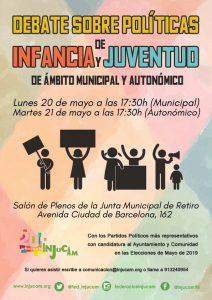 Debate sobre políticas de infancia y juventud de ámbito municipal y autonómico @ Salón de plenos de la Junta Municipal de Retiro