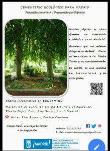 Charla informativa 'Propuesta ciudadana por un Cementerio ecológico para Madrid' @ Ecocentro (Sala Restaurante) | Madrid | Comunidad de Madrid | España