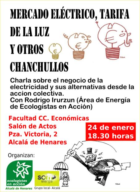 Charla Mercado electrico, tarifa de la luz y otros chanchullos