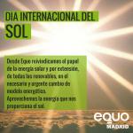 Reivindicamos el papel de la energía solar en el necesario y urgente cambio de modelo energético