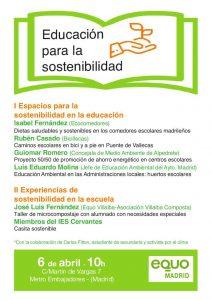 Encuentro 'Educación para sostenibilidad' @ Sede EQUO
