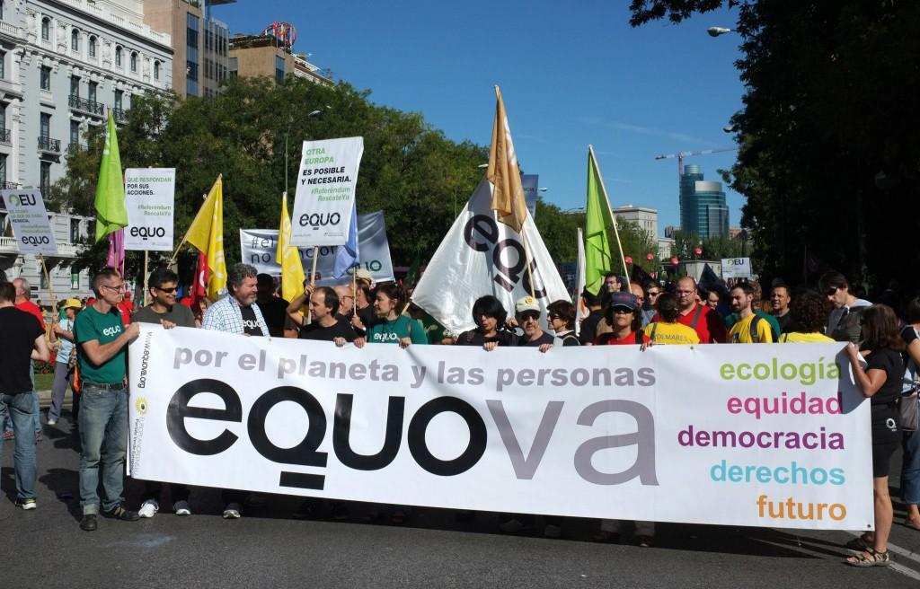 EQUO en la manifestacion 15-S