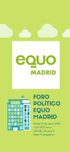 Foro político EQUO Madrid @ Sede EQUO Madrid