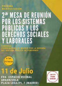 Mesa de reunión por los sistemas públicos y los derechos sociales y laborales @ EVA (Espacio Vecinal Arganzuela)
