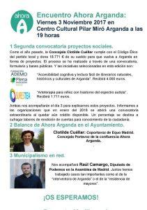 Arganda - Encuentro público Ahora Arganda @ Centro Cultural Pilar Miró   Arganda del Rey   Comunidad de Madrid   España