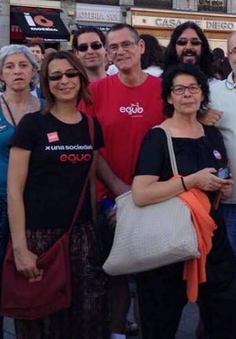 Inés Sabanes junto a Ramon Linaza y Paloma Estellés, ponentes de una de las conferencias de EQUO