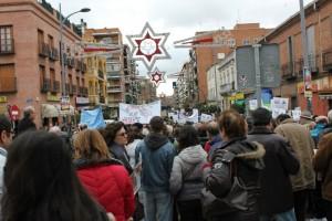 Manifestantes marchando