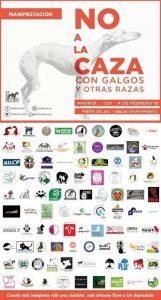 """Manifestación """"No a la caza con galgos y otras razas"""" @ De Sol a Cibeles   Madrid   Comunidad de Madrid   España"""