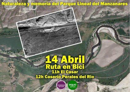 Ruta en bici: Naturaleza y memoria del Parque lineal del Manzanares @ Parque Lineal del Manzanares   Getafe   Comunidad de Madrid   España