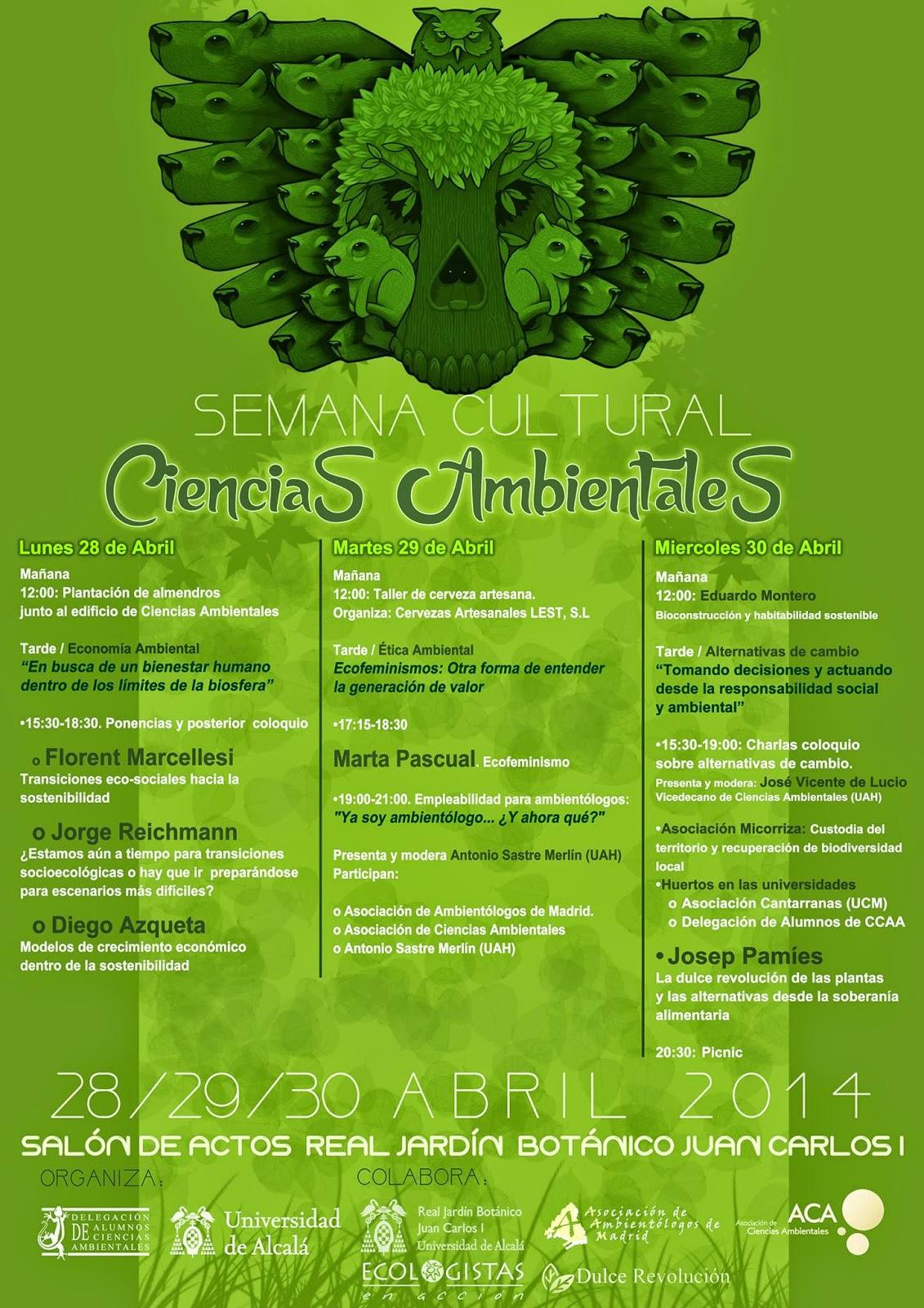 Semana cultural Ciencias Ambientales 2014