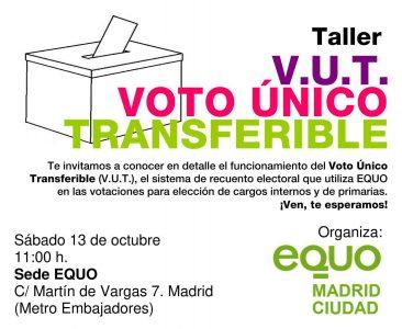 Taller de V.U.T. @ Sede EQUO   Madrid   Comunidad de Madrid   España
