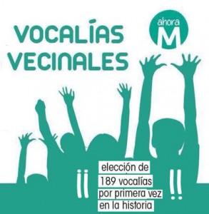 Vocalias vecinales Ahora Madrid