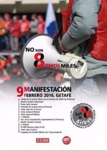 Manifestación de apoyo a los 8 de Airbus @ Factoría EADS-CASA | Getafe | Comunidad de Madrid | España